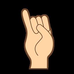 Hand finger i letter i flat