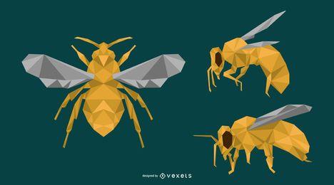 Diseño de la abeja de polígono