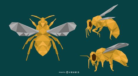 Polygon Bee Design