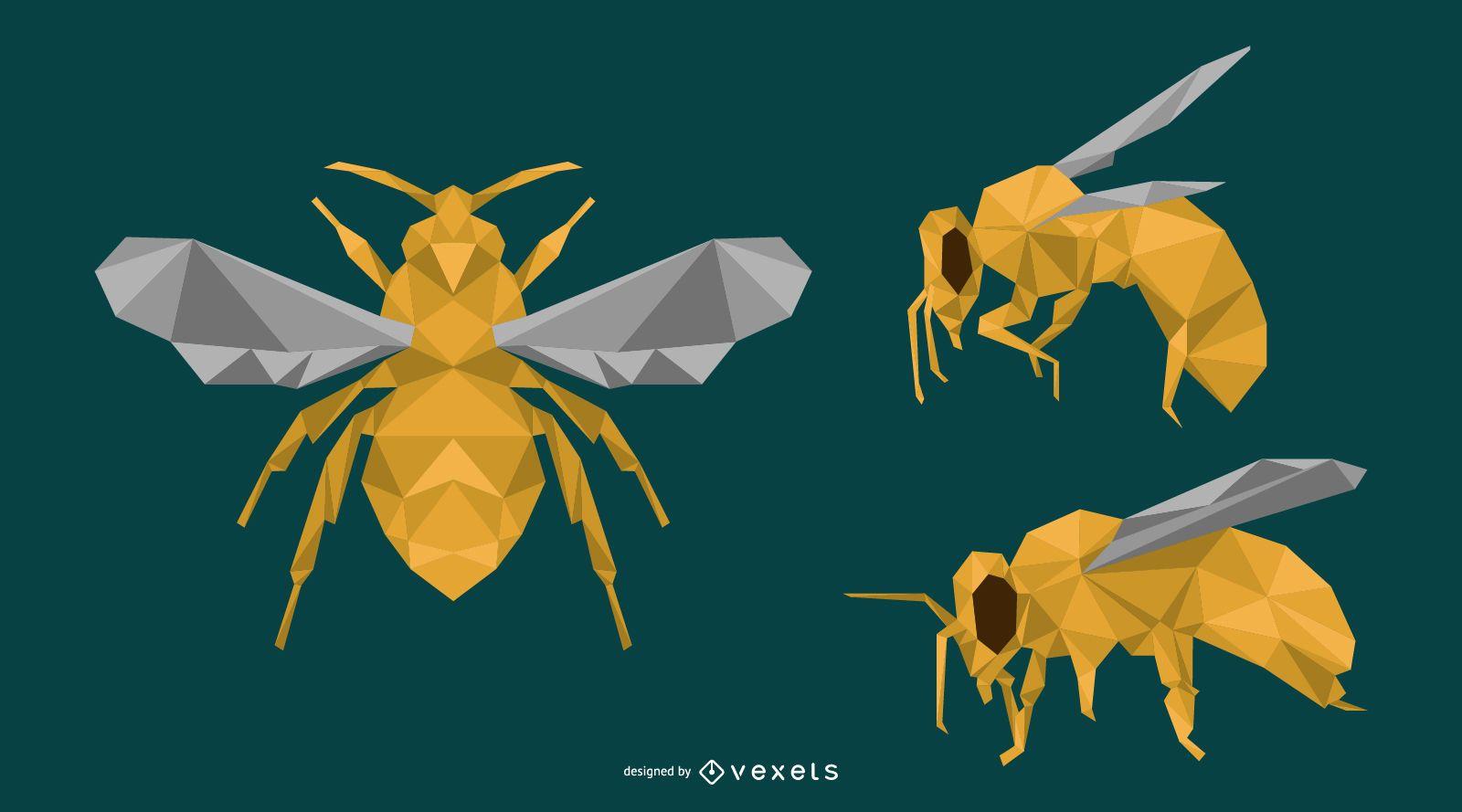 Dise?o de abeja poligonal