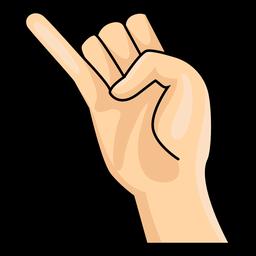 Mão, dedo, j, letra, j, ilustração