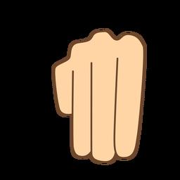 Hand finger m letter m flat