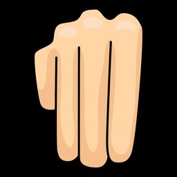 Mão, dedo, m, letra, m, ilustração