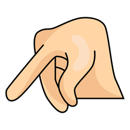 Mano dedo p letra p ilustración