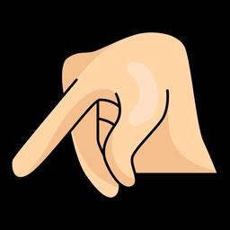 Mão, dedo, p letra p ilustração