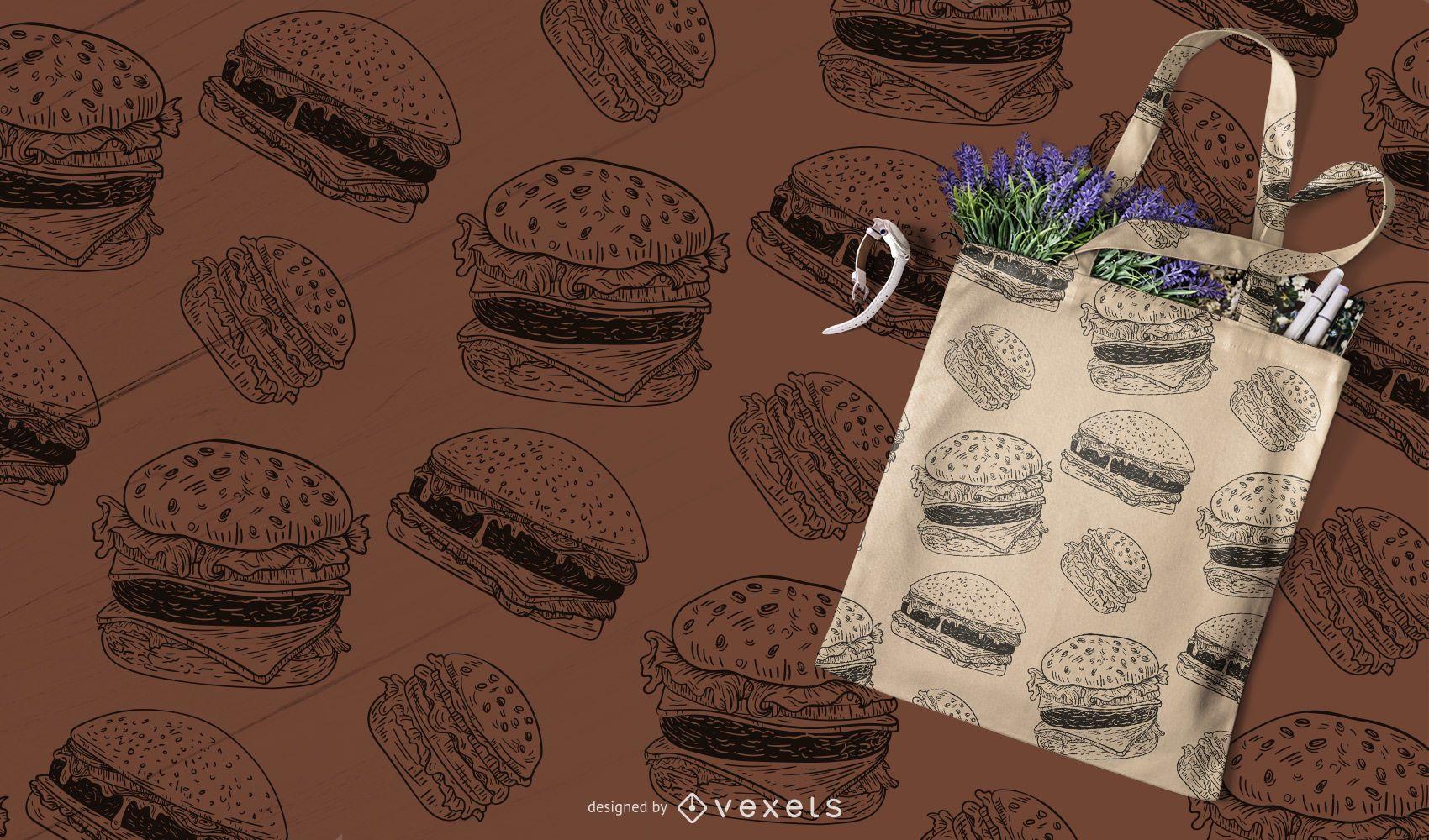 Patrón de hamburguesa