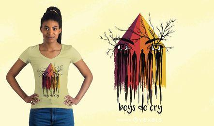 Jungen schreien T-Shirt Design