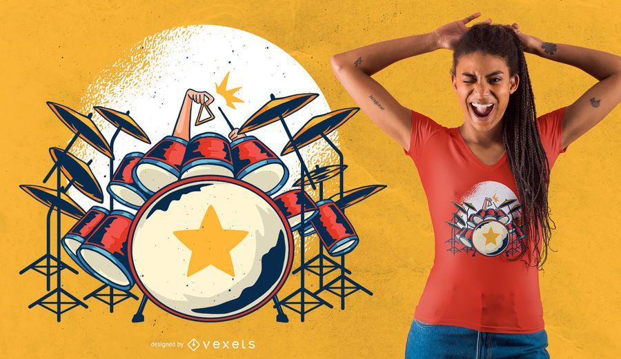 Tambores camiseta diseño
