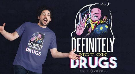 Diseño de camiseta No Sobre Drogas