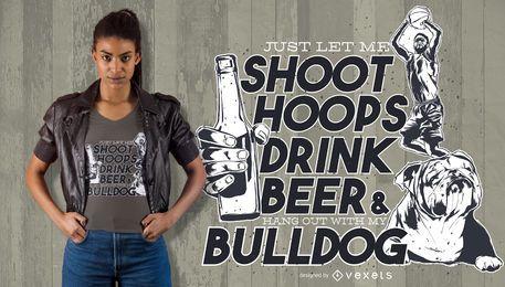 Cerveza bebida cita diseño de camiseta