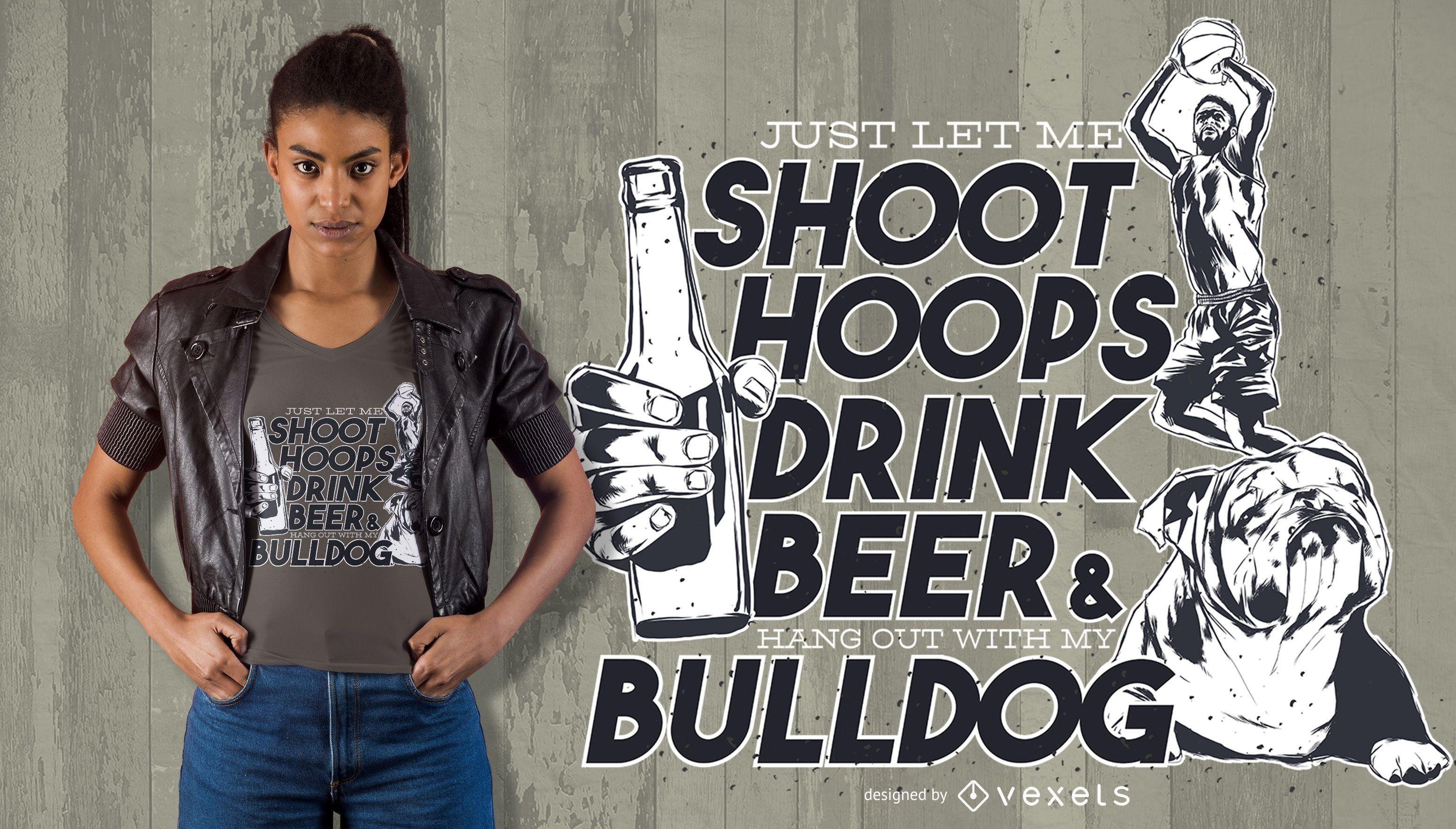 Trinken Sie Bier Zitat T-Shirt Design