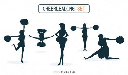 Cheerleadern Silhouette Set