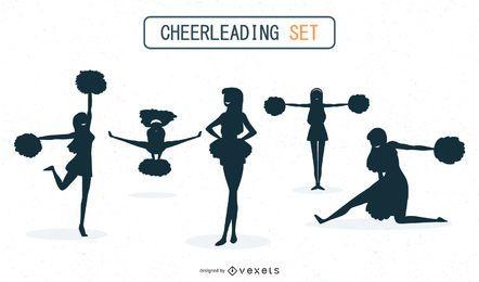 Cheerleadern Silhouette Set