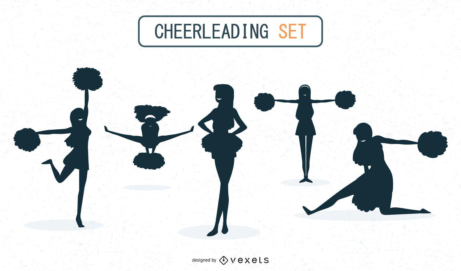 Cheerleaders Silhouette Set