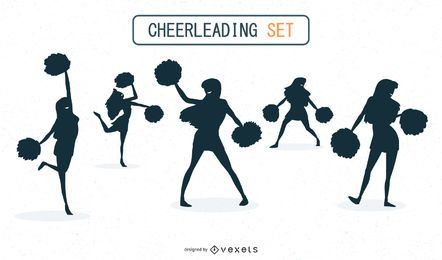 Cheerleading silhouettes