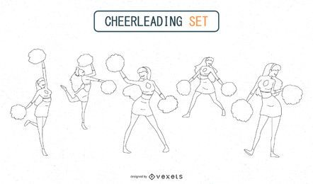 Cheerleader-Silhouetten