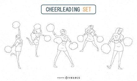 Cheerleader-Silhouetten