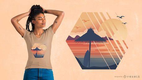 Projeto do t-shirt das férias de verão