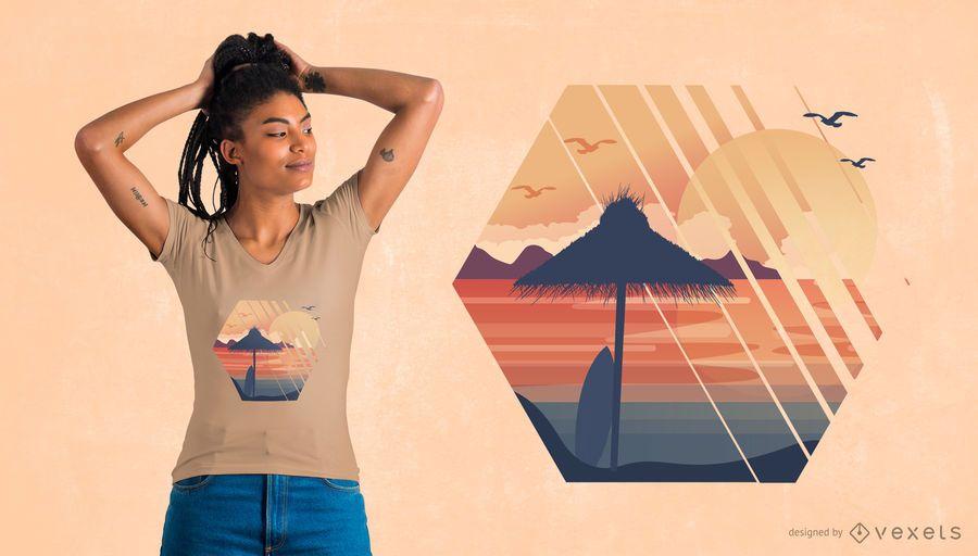 Diseño de camiseta de vacaciones de verano