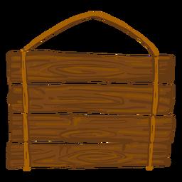 Placa de sinal de madeira de suspensão
