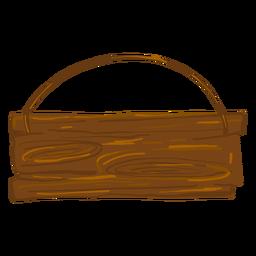 Letrero de madera colgante