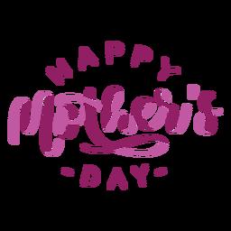 Etiqueta engomada feliz del texto inglés del día de madre