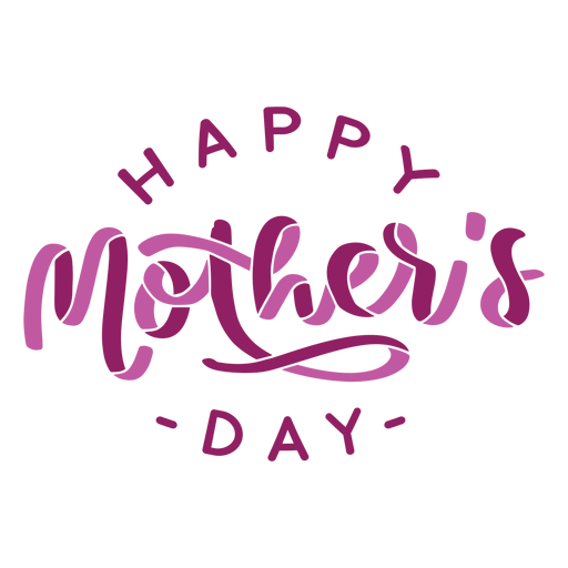 Etiqueta engomada feliz del texto inglés del día de madre Transparent PNG