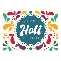 Letras felices del festival holi