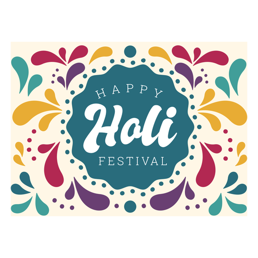 Happy holi festival lettering Transparent PNG