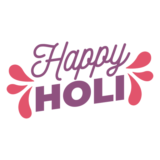 Happy holi lettering Transparent PNG