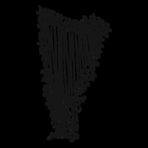 Arpa instrumento musical remolino. Transparent PNG