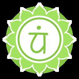 Símbolo del círculo del chakra del corazón