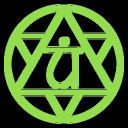 Heart chakra line icon