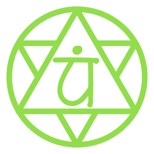 Heart chakra line icon Transparent PNG