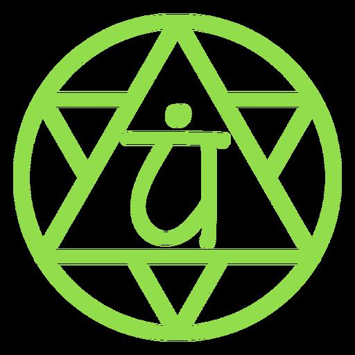 Icono de línea de chakra del corazón