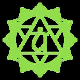 Símbolo chakra del corazón