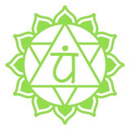 Símbolo do chakra do coração