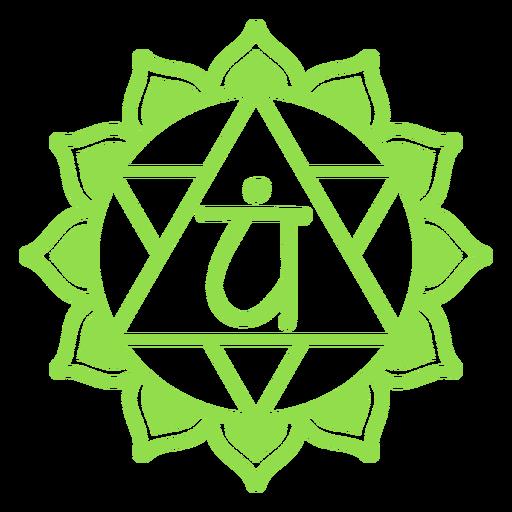 Símbolo do chakra do coração Transparent PNG