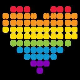 Etiqueta do lgbt do arco-íris do círculo do ponto do coração