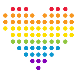 Heart dot circle rainbow lgbt sticker