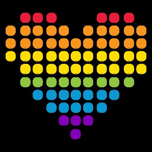 Etiqueta do lgbt do arco-íris do círculo do ponto do coração Transparent PNG