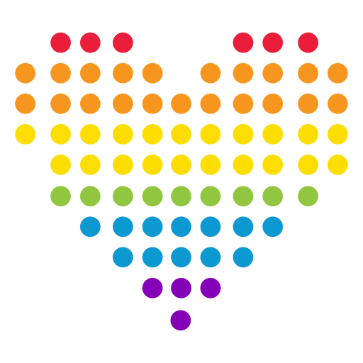 Heart dot circle rainbow lgbt sticker Transparent PNG