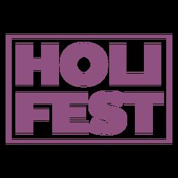 Holi fest lettering