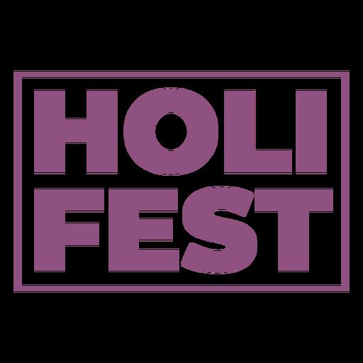Letras de Holi fest Transparent PNG
