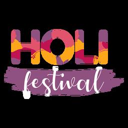 Holi festival brush stroke lettering