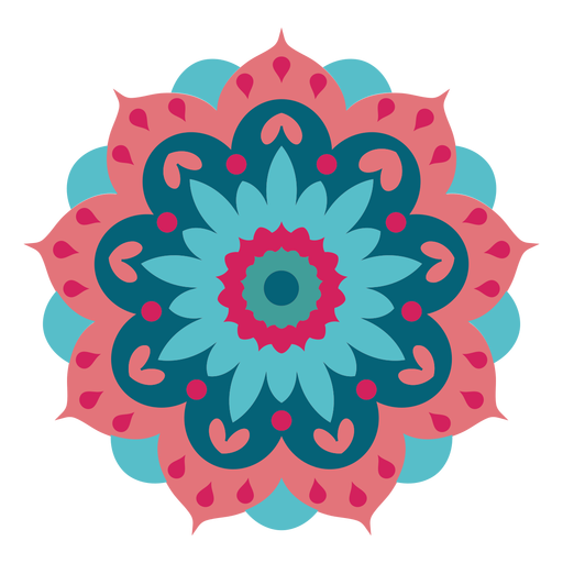 Mandala do festival de Holi Transparent PNG