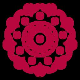 Holi Festival Mandala flach
