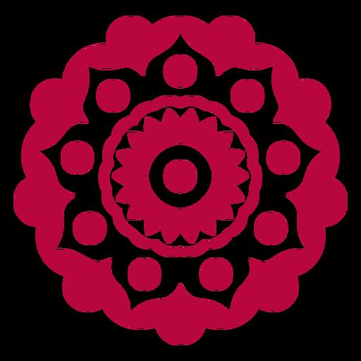 Mandala do festival de Holi plana Transparent PNG