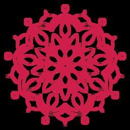 Holi festival mandala icon
