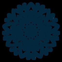 Silhueta de mandala do festival de Holi